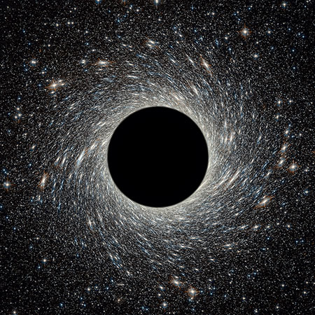 Black hole in universe.